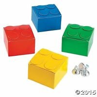 Pack of 6 - Colour Brick Party Favor Boxes - Party Bag Fillers