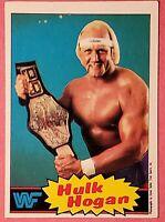 1985 Topps WWF Hulk Hogan Topps Rookie Wrestling Card WWE WCW NWO HULKAMANIA RC