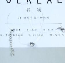 Rhinestone Necklace Crystal Pendants Stone Transparent Neck Cord Chain