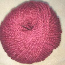 10 ovillos 100% lana pura en rojo oscuro Hecho en francia