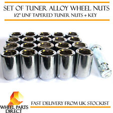"Set of 20 1/2"" UNF Half Inch Tuner Drive Sparco SD Alloy Wheel Nuts Bolts + Key"