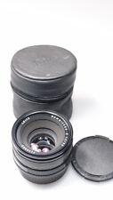 LEITZ LEICA SUMMICRON-R 50mm 1:2 LENS SLR LENS W/CAPS AND SOFT CASE MINT-