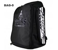 Twins Special Backpack Bag-5 Black Gym Bag Boxing Equipment Muay Thai Mma K1