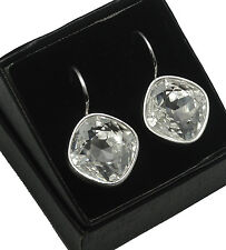 Silver Plated Earrings SHEENA *CRYSTAL* 14mm Crystals from Swarovski®