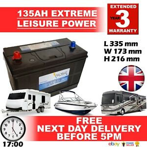 PAIR OF 2X 12V 135AH 135 AH Leisure Battery DEEP CYCLE for Motorhome / Caravan