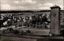Dobel Schwarzwald alte Ansichtskarte 1957 Panoramablick  Partie am Wasserturm