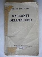 Racconti dell'incuboPoe Edgar AllanRizzoli1956 BURhorror gotico Gallone 34