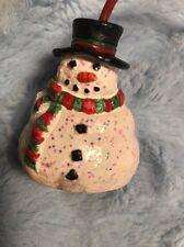 Christmas Winter Snowman Candle Snuffer Snowballs Glitter