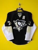 🐧PITTSBURGH PENGUINS # 71 EVGENI MALKIN VTG REEBOK NHL HOCKEY JERSEY YOUTH-L/XL