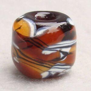 SAVANNA Handmade Large-Hole Art Glass Bead Flaming Fools Lampwork Art Glass SRA