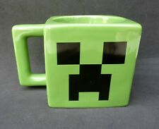 Official Minecraft Ceramic Creeper Green Jinx Mojang Coffee Tea Mug Square NWOT