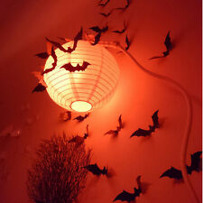 12pcs Lots 3D Bat Halloween Wall Sticker Decal Black Festival Room Decoration