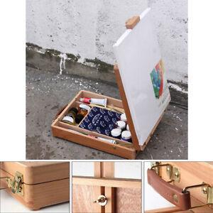 Portable Folding Easel Art Drawing Painting Wood Table Desktop Box Board AUS