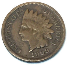 1909-S 1C Indian Cent BN key coin VF