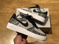 NIKE AIR FORCE 1 FLYKNIT 2.0 OREO MENS TRAINERS SIZE UK7.5 EUR 42 US 8.5 NEW