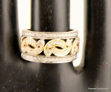 Beautiful Vintage 14K White, Yellow and Rose Gold Ring Size 7