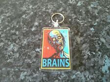 Brains Jumbo Keyring. NEW. Zombie Memorabilia. Horror Pop Art. Halloween