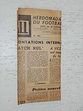 FRANCE FOOTBALL OFFICIEL HEBDOMADAIRE FFF N°452 16/11 1954