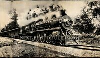 1906 Chicago Portland Special Train Vintage Panoramic Photograph