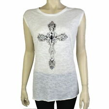 Unbranded Cotton Blend Sleeveless Tops & Shirts for Women