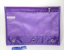 "Zipper Pencil Pouch 6.9""x10"" - Purple"