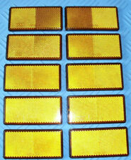 10 X AMBER REFLECTORS SIDE MARKER/TRAILER/TRUCK/LORRY/DRIVEWAY - SELF ADHESIVE