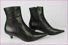 Bottines Boots CRISTINA MILLOTTI Tout Cuir Noir T 38,5 TBE