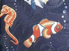 Steven Harris Tie Necktie TROPICAL FISH Ocean Aquarium Hand Made Seahorse