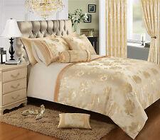 Jacquard Bedding Set Luxury Premium Floral Duvet Set, Quilted Comforter Curtains