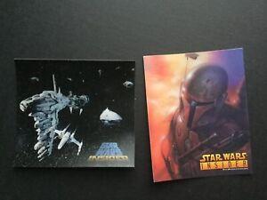 STAR WARS Drew Struzan Art Insider POST CARDS Card & STICKER LOT 1996 Boba Fett