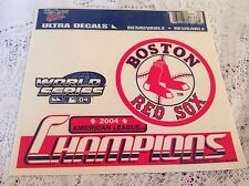 BOSTON RED SOX WINDOW CLING 2004 AMERICAN LEAGUE CHAMPIONS DECAL REUSABLE MLB