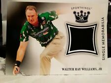 2018 SportKings PBA TOURNAMENT WORN SHIRT Memorabilia Card WALTER RAY WILLIAMS