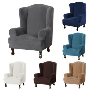 Universal Stretch Single Armchair Sofa Chair Cover Elastic Slipcover Solid Color
