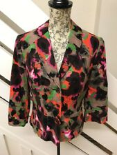 NEW Next Womens Floral Blazer Tailored Jacket Size 10 UK Linen Cotton RRP£45