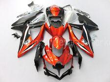 For Suzuki GSX-R600/750 K8 GSXR 750 GSXR600 2008-2010 2009 Orange Fairing Body