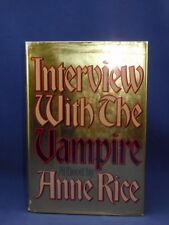 INTERVIEW WITH THE VAMPIRE Anne Rice, First Edition 1st Print, 1976, Original DJ