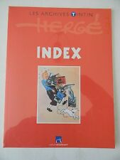 les archives tintin  atlas   l' index  éditions Moulinsart