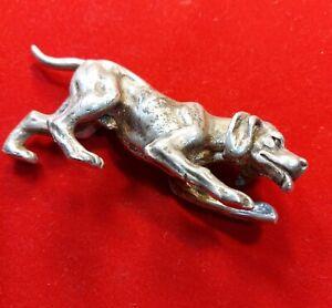 Vintage Silver Plated Dog
