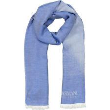 Armani Collezioni Modal Estola De Punto Fino/bufanda, cielo azul, 78x170cm, PVP £ 135