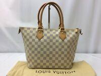 "Auth Louis Vuitton Damier Azur  Saleya PM Tote Hand Bag 9C130590Fa"""