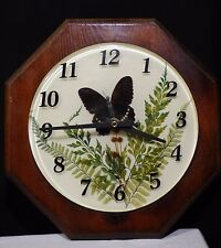 Epoxy Resin Butterfly Wall Clock - Real Butterfly leaves and flowers - Beautiful
