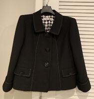 TAHARI Arthur S. Levine Black Skirt Suit Set, Womens Size 8P, Petite Preownd