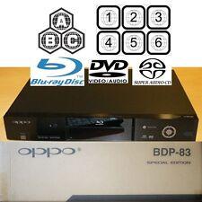 Oppo Digital bdp-83se Special Edition Region Free Blu-ray DVD Player gebraucht in Box