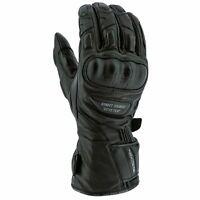 Richa Street Touring Leather Gore-Tex Waterproof Motorcycle Gloves - Black