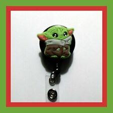 Baby Yoda Badge Holder Retractable Reel Mandalorian *USA Seller*