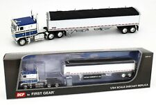 2020 DCP 1:64 *BLUE & WHITE* KENWORTH K-100 COE w/WILSON GRAIN TRAILER *NIB*