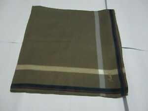 """USED BROWN SOLID PATTERN COTTON 18"""" HANDKERCHIEF HANKY POCKET SQUARE FOR MEN"""