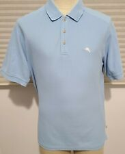 Tommy Bahama Mens Short Sleeve Polo Shirt Light Blue Size Large