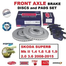 FOR SKODA SUPERB Mk II 1.4 1.6 1.8 1.9 2.0 3.6 2008-2015 FRONT BRAKE PADS +DISCS