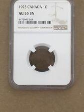 Canada Small Cent Penny NGC AU 55 1923 Rare